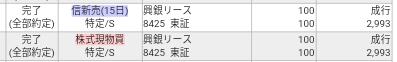 興銀リース(8425)SBI証券で株主優待タダ取り