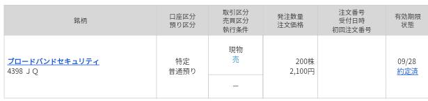 ブロードバンドセキュリティ(4398)IPOセカンダリ売却