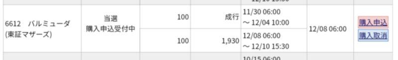 バルミューダ(6612)IPO みずほ証券から当選