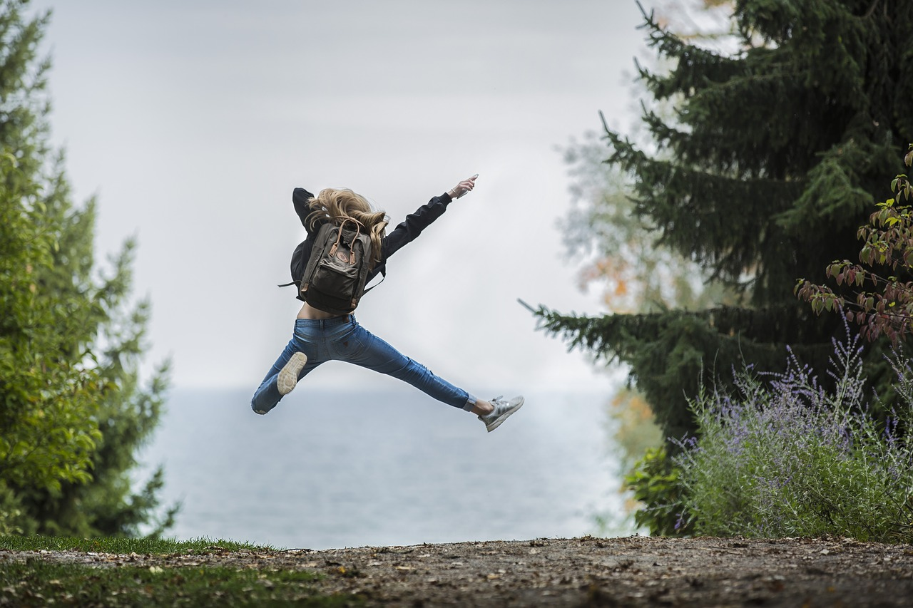 歓喜のジャンプ